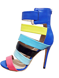 Women's high Heel Multicolor sandals shoes