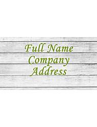 Personalized Product Labels / Address Labels Horizontal Stripe Plank Pattern Of Film Paper 160pcs/set