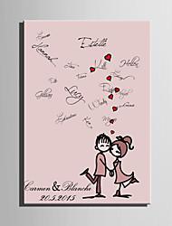e-FOYER toile de signature personnalisée personnes de cadre dépendant de mariage de corail
