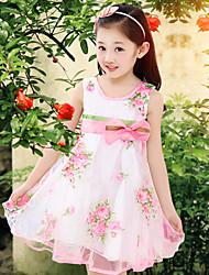 Menina de Vestido Malha Verão Colorido
