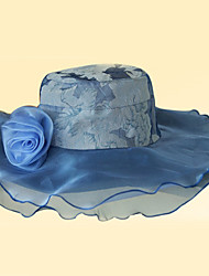 Royal Blue Gorgeous Organza With Sequin Wedding/ Partying/ Honeymoon Hat