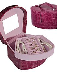 lavie®purple Krokoprägung leatherjewelry Boxen, klein, tragbar, leicht zu organisieren Eintritt