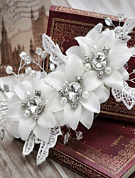 Women Lace/Acrylic Flowers With Imitation Pearl Wedding/Party Headpiece