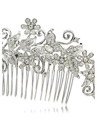 Alloy Clear Rhinestone Women Wedding Prom Girl Flower  Hair Comb
