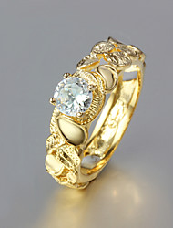 Party Gold Plated Statement Ring New Design Wedding Rings
