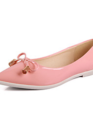 Women's Shoes Flat Heel Pointed Toe/Closed Toe Flats Casual Black/Pink/White