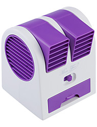 Mini Portable USB / 3 x AA Powered Bladeless Turbine Aromatherapy Perfume Fan - Purple