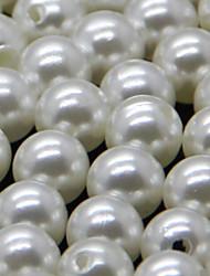 decoración de la boda golpe perla esférica de 8 mm (juego de 100)