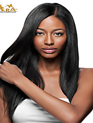 "8""-26"" Indian Virgin Hair Straight Glueless Full Lace Wig With Baby Hair for Black Women"