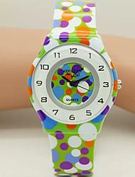 Children's Pattern Digital Silicone Band Quartz Imported machine Analog Wrist Watch Ladies'  Wrist Watch