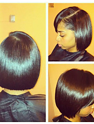 In Stock,Full Lace Wig 100% Brazilian Human Hair Wig Bob Straight 10-20inch Natural Color Virgin Hair