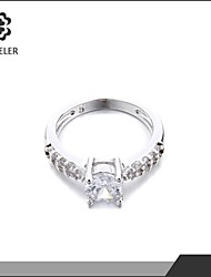2015 Rose Gold Plated Cubic Zirconia Promise Ring