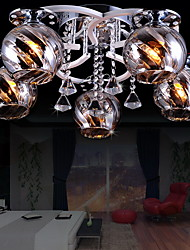 Metal - Montage de Flujo - Cristal/Bombilla incluida - Moderno / Contemporáneo