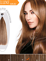 Pre-bonded I Tip/ Stick Tip Hair Extensions Ty.Hermenlisa 100% Russian Remy Human Hair Dark Color