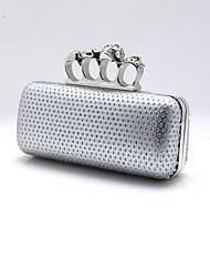Women Patent Leather / Other Leather Type Formal / Event/Party Evening Bag Gold / Silver