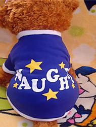 Camiseta para Cães Azul Inverno XS / S / M / L Mistura de Material