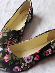 Frauen-spitze Zehe flache Schuhe Casual Farbe; schwarz / beige / pink