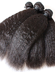 Hair Products Brazilian kinky straight Virgin Hair 3Pcs Virgin Brazilian kinky straight Hair No Shedding