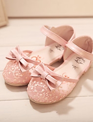 Girls' Shoes Wedding/Outdoor/Dress/Casual Comfort Faux Leather Flats Pink/Beige