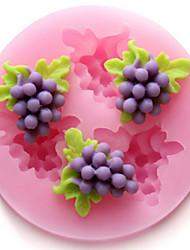 moldes de silicone bakeware uvas de cozimento para o bolo de chocolate fondant (cores aleatórias)