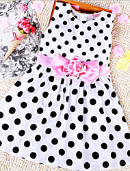 Girl's Korean Dot  Dress