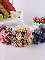 Elegant Hand Made Decorative Flower Bride Bridal Crystal Wedding Bouquets Accessaries Party Decor