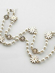 New Arrival Fashional Hot Sellign Long Chrysanthemum Pearl Necklace