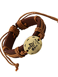 Unisex's Vintage Casual Chinese Zodiac Leather Bracelet Braided Bracelet (12Pices/Set)