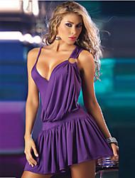 Vestidos ( Algodón Compuesto )- Sexy Tirantes Sin Mangas para Mujer