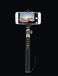 Rock extensible bluetooth 3.0 obturation selfie monopode bâton sans fil pour android / ios smart-phone