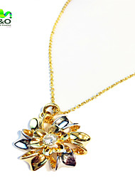 Women Chinese Redbud  Crystal Necklace