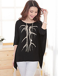 Wings Women's Sexy/Casual Round ½ Length Sleeve T-Shirts (Mesh)