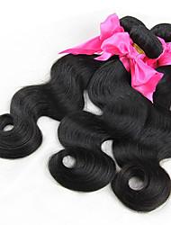 "1 Pcs Lot 8"" Brazilian  Virgin Hair Natural Black Body Wave Human Hair Weave hair products"