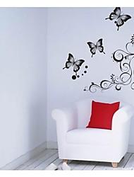 arte da parede da flor preta clássica para salão decalques de parede videira zooyoo051s DIY adesivos decorativos enfeites para casa