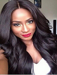 Natural Hairline Virgin Brazilian Human Hair Front Lace Wigs Wavy With Baby Hair