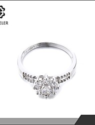High Quality Plating Cubic Zirconia Promise Ring