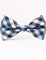 Blue And Grey Square Men Bow Ties
