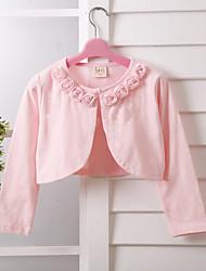 Kinder wickelt Langhülse Spitze / Polyester-süße reizende Rose Partei / beiläufige Boleros weiß / pink bolero Achselzucken