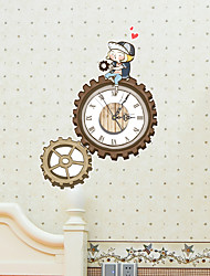 3D The Gear Wall Stickers Wall Decals