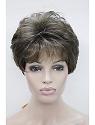 New Color RM73 Women's Wig Brown Mix Straight Short Wig Synthetic Hair Full Wig