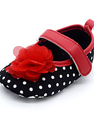 Baby Shoes Wedding/Outdoor/Dress/Casual Fabric Flats Black