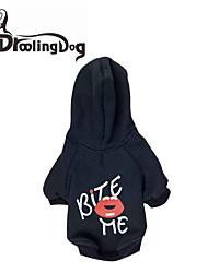 DroolingDog®  Lovely BITE ME Pattern Fleece Hooded T-Shirt for Dogs (Assorted Sizes)