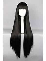 Promotion Shakugan no Shana Fashion 32inch Long Straight Synthetic Blackwig