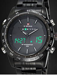 NAVIFORCE® Chrono Stopwatch Alarm Clock Men Full Steel LED Digital Watch Men Quartz Army Military Watches Sport Wristwatch