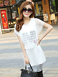 Women's Bodycon/Casual Round Short Sleeve Dresses (Polyester)