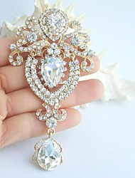 Wedding Accessories Gold-tone Clear Rhinestone Crystal Bridal Brooch Wedding Deco Bridal Bouquet Wedding Jewelry