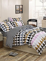 Mingjie Triangle Sanding Bedding Sets 4pcs Duvet Cover Sets Bed Linen China Queen Size and Full Size