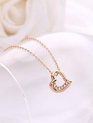 хан издание персик сердца кристалл цепи ожерелье ключицы