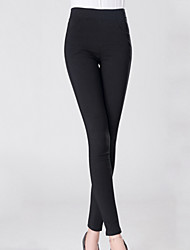 Women's Solid Blue/Black/Beige/Gray Skinny Pants , Sexy/Bodycon/Casual/Cute