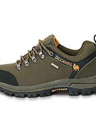 ZNPNXN Hiking Men's Shoes Leather Green/Khaki